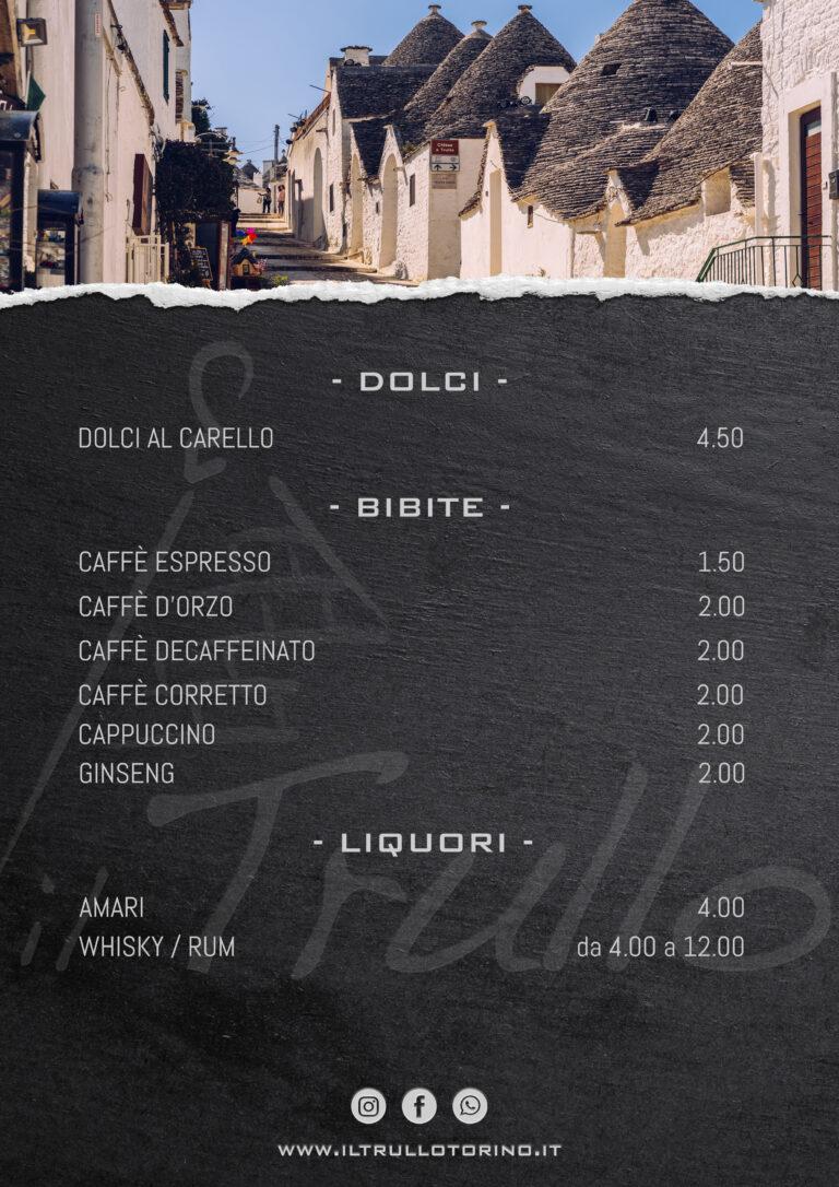 Dolci - Caffetteria - Liquori