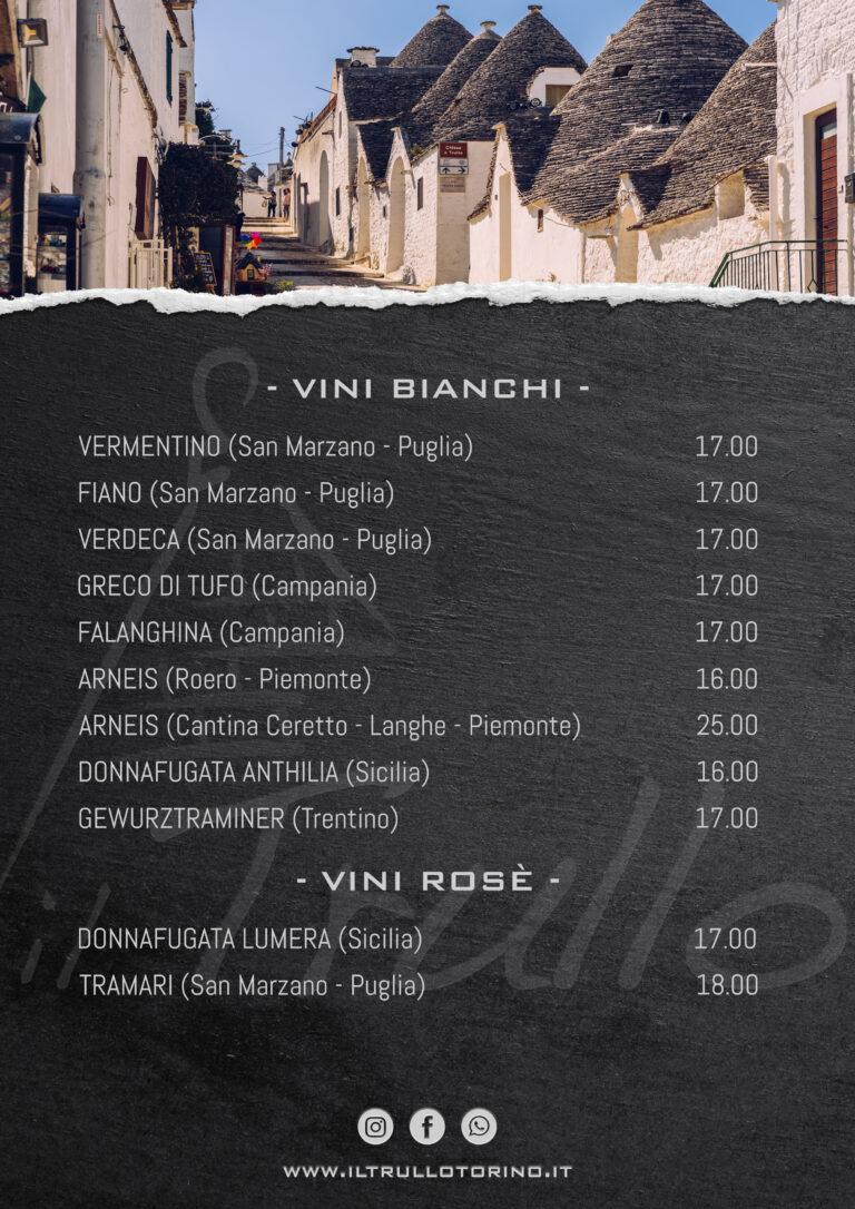 Vini Bianchi - Vini Rose